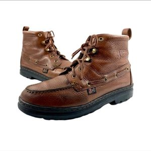 Justin leather working work boots